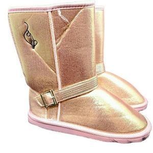 Baby Phat rose Gold plush boots. Size 7